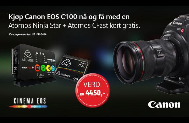 Kjøp C100, få med Atomos Ninja Star!