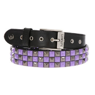 CHECKER STUD BLACK VIOLET